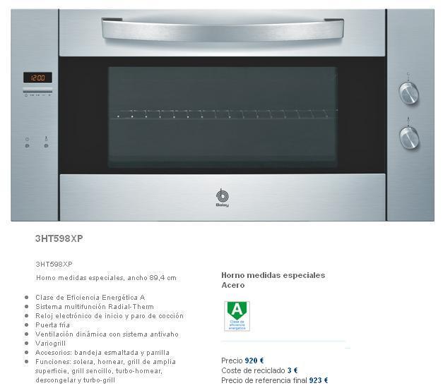 Horno for Medidas de hornos electricos